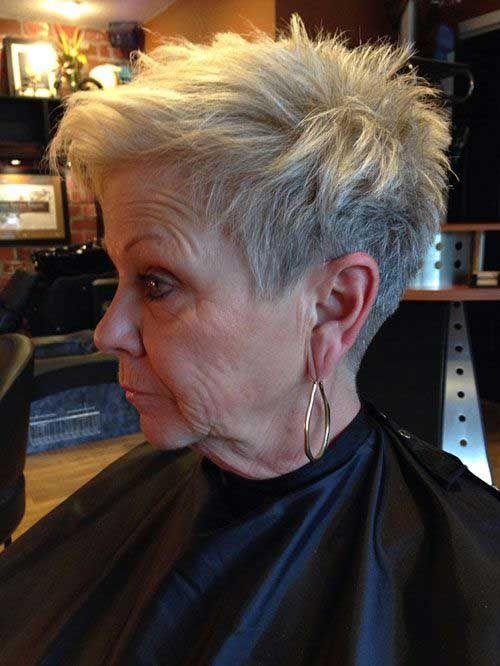 2019 Kurze Frisuren für ältere Frauen mit dünnem Haar