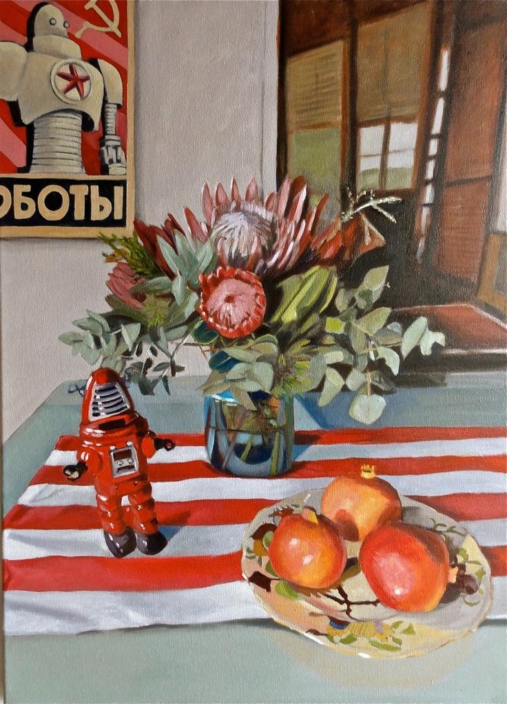 Nicola Semmens 'Constructivism meets Olley',  oil on canvas,84cm x 61cm