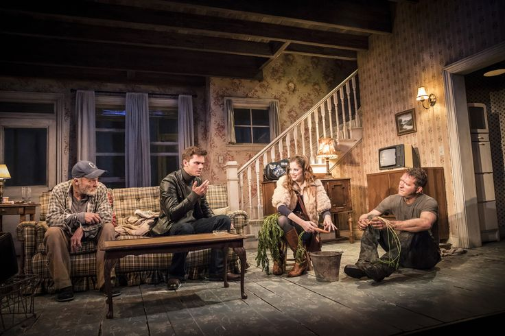 Ed Harris, Jeremy Irvine, Charlotte Hope & Barnaby Kay in Buried Child, Trafalgar Studios, photo Johan Persson https://www.fromtheboxoffice.com/3LM9-buried-child/