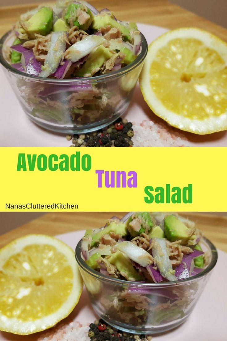 Healthy Avocado Tuna Salad. YouTube for full recipe: https://www.youtube.com/watch?v=brQnfUOmwGA