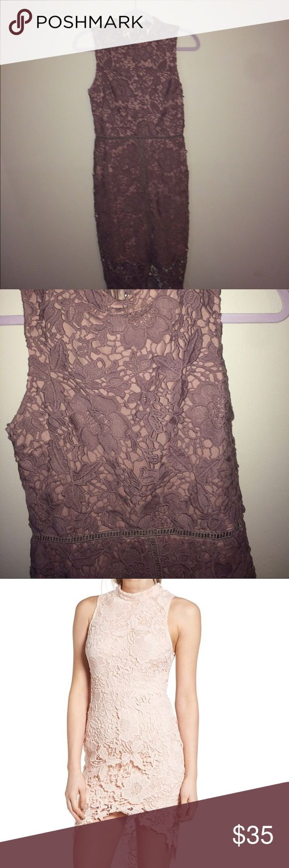 Beautiful Lace Bodycon Mauve lace bodycon dress. Size medium. Worn once, perfect condition. Tag says Ina, however it looks exactly like Astr brand Samantha dress. Pics 1 and 2 are the actual dress. Pics 3 and 4 are the Astr dress because that's how the dress looks on. Ina Dresses Mini