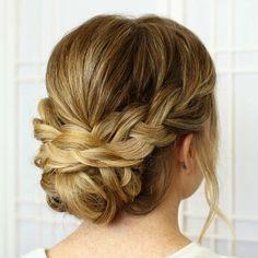 Long hair updo styles
