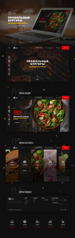 Ознакомьтесь с этим проектом @Behance: «EstBurger - WebSite» https://www.behance.net/gallery/53449423/EstBurger-WebSite