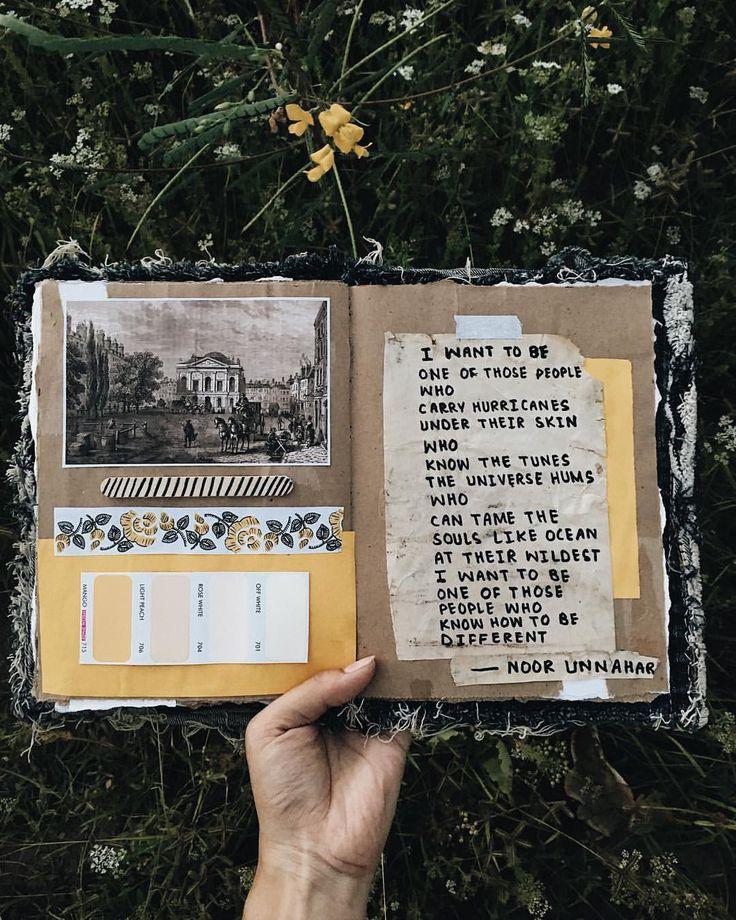 Art Journal — one of those people ✨ // art journal + poetry by noor unnahar // art jour… – Art