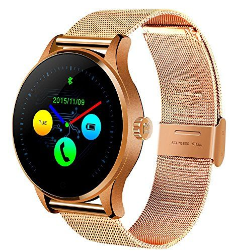 Witmood k88h Round Smart Watch Heart Rate Monitor Wristwatch with Remote Camera Clock Bluetooth for Android and IOS Phone (Metallic gold)  http://stylexotic.com/witmood-k88h-round-smart-watch-heart-rate-monitor-wristwatch-with-remote-camera-clock-bluetooth-for-android-and-ios-phone-metallic-gold/