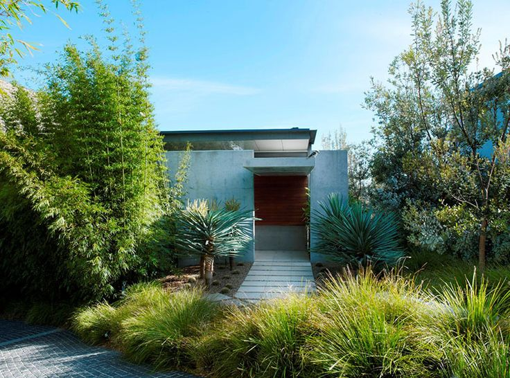Great Landscaping. Nice Balance Of Concrete And Other Materials.