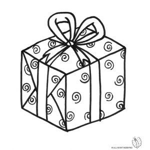 Disegno Di Pacco Regalo Con Fiocco Da Colorare Disegni Di Natale