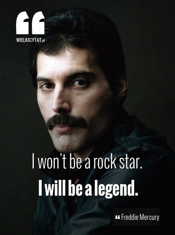 """I won't be a rock star. I will be a legend."" - Freddie Mercury #freddymercury #queen #rockmusic #inspire"