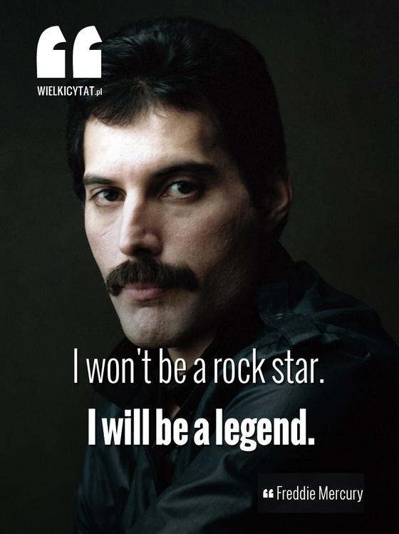 """""""I won't be a rock star. I will be a legend."""" - Freddie Mercury #freddymercury #queen #rockmusic #inspire"""