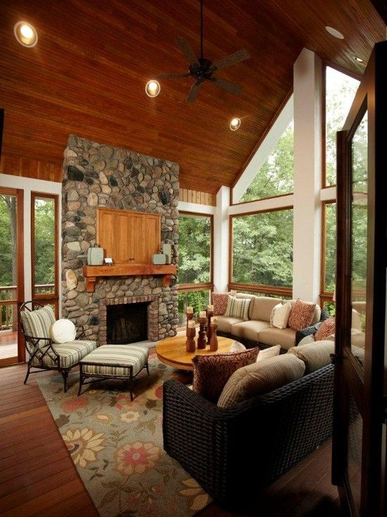 14 Best Images About Sunrooms On Pinterest Fireplace