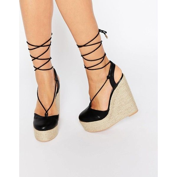 1000  ideas about Lace Up Wedges on Pinterest  Wedged sneakers