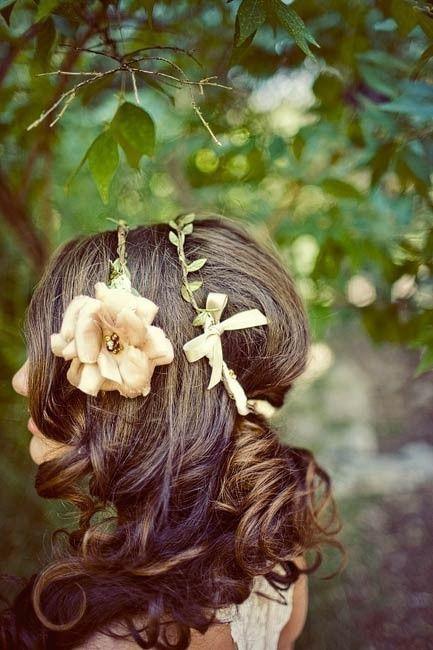 Whimsical wedding hairstyle