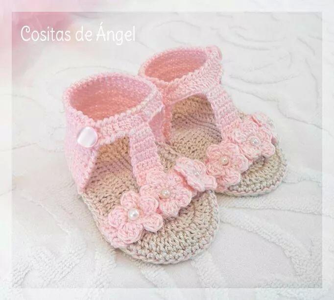Sandalias crochet bebe