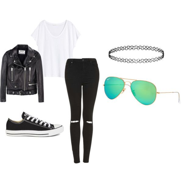 A fashion look from September 2015 by marenrygh featuring H&M, Acne Studios, Topshop, Converse and Ray-Ban