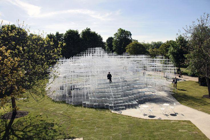 Der serpentine pavillon von fujimoto in london wie eine nebelschwade