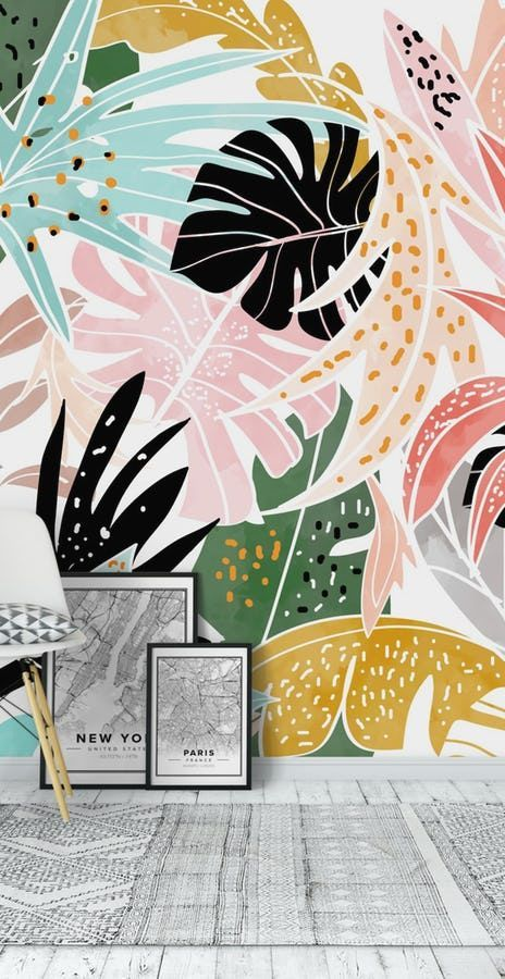 Veronica Wall Mural / Wallpaper Abstract   – Wallpaper