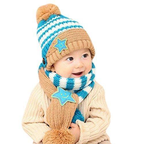 Oferta: 15.99€. Comprar Ofertas de Happy cherry - (Set de 2 )Gorro y Bufanda de Lana lista Invierno Otoño Caliente para Bebés niños niñas - Azul barato. ¡Mira las ofertas!