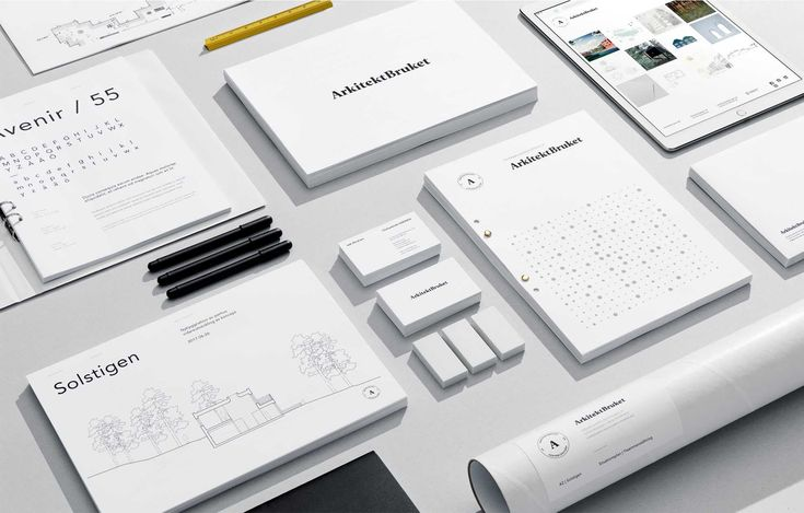A clean stationary identity for architecture firm.