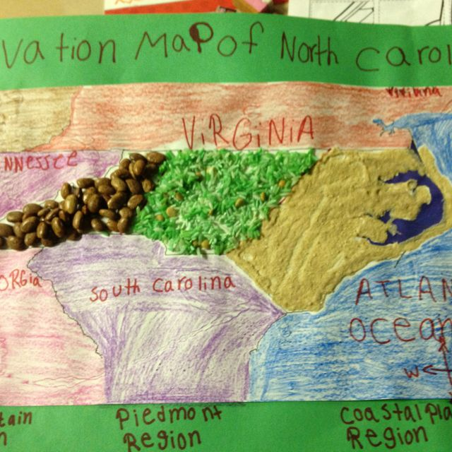 Best Topographic Maps Grade School Project Images On - North carolina topographic map