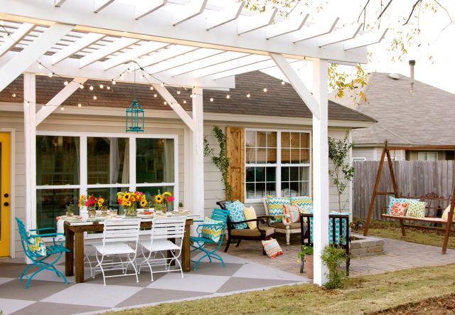 1000 images about porches patios on pinterest house for Uncovered patio ideas