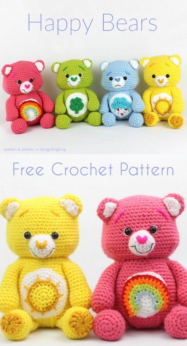Sweet Happy Bears Free Crochet Pattern