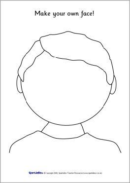 Blank Faces Templates SB1359