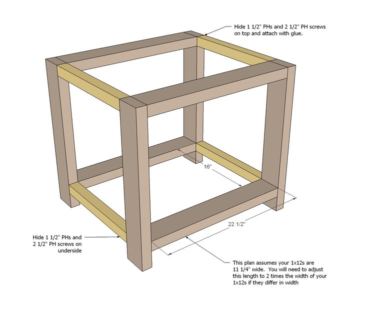 Ana White   Build a Rustic X End Table   Free and Easy DIY Project and Furniture Plans
