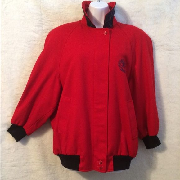 Burberry's Red Bomber Jacket Classic Burberries Bomber Jacket. This was a gift from my sister it is such a lovely jacket & in great shape with the exception of the small moth bites that can be fixed. Thank You. Burberry Jackets & Coats