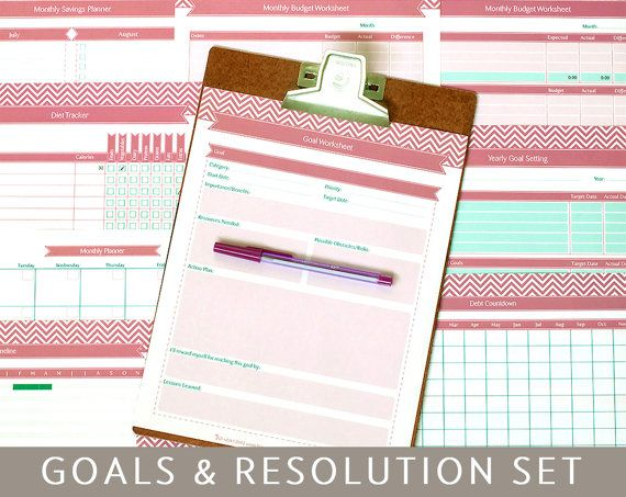 Goal Setting & New Year's Resolution Planner,