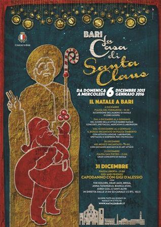 Il cartellone unico degli eventi natalizi di Bari