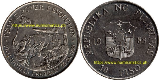 1988 10 Piso People Power Revolution Commemorative Coin