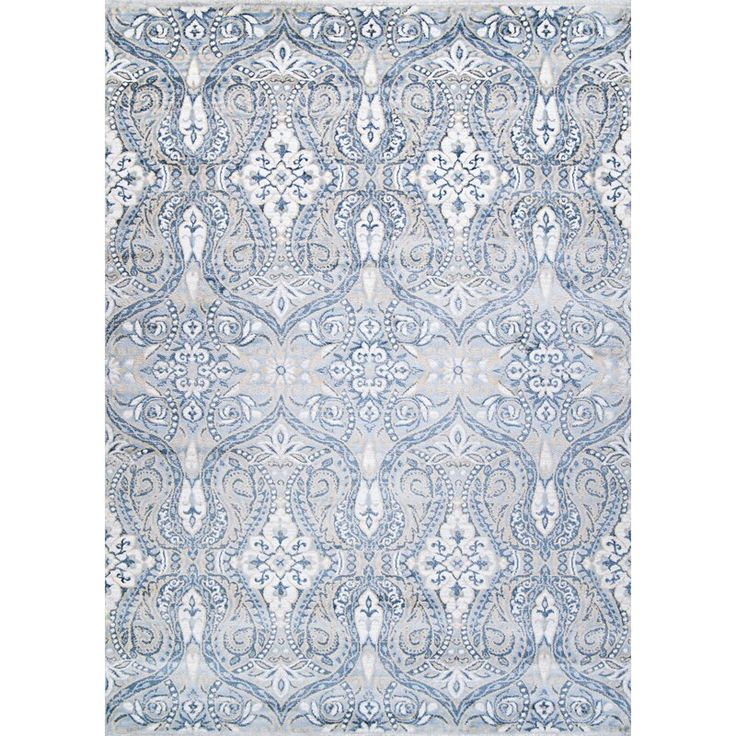 Karmane Floral White Blue Area Rug In 2021 Area Rugs Couristan Blue Area Rugs