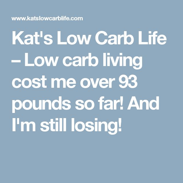 Kat's Low Carb Life – Low carb living cost me over 93 pounds so far!  And I'm still losing!