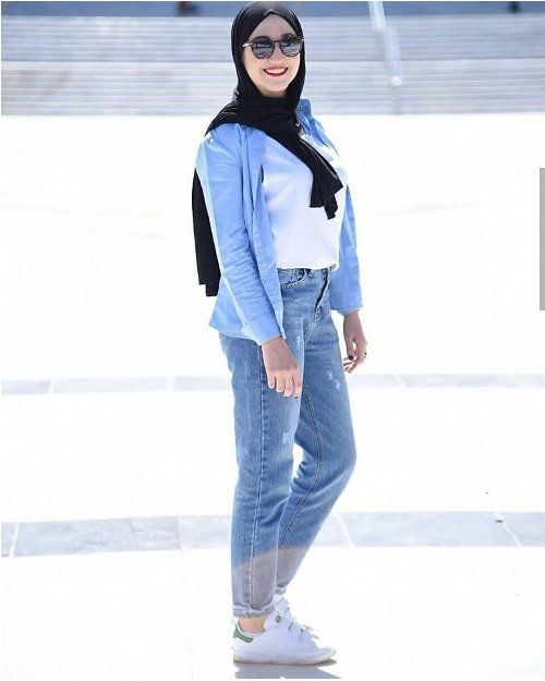 Boyfriend Jeans Hijab Casual Summer Hijab Clothing Just Trendy