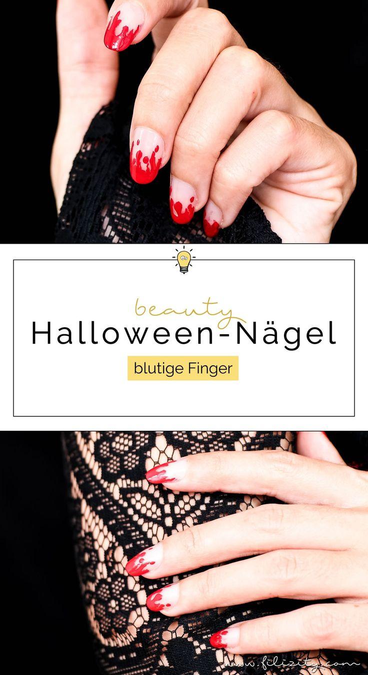 Halloween Nageldesign: Hexen, Geister, Monster, Mumien… Es wird wieder gruselig auf meinem Beauty Blog. Heute mit blutigen Fingernägeln (schnell & einfach).