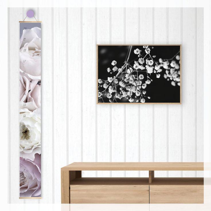 pastel roses height growth chart,   scandi, modern, photography, scandinavian, beach, boho, canvas, wall decor, home decor, interior styling, home styling, kids bedroom, kids room, boho home