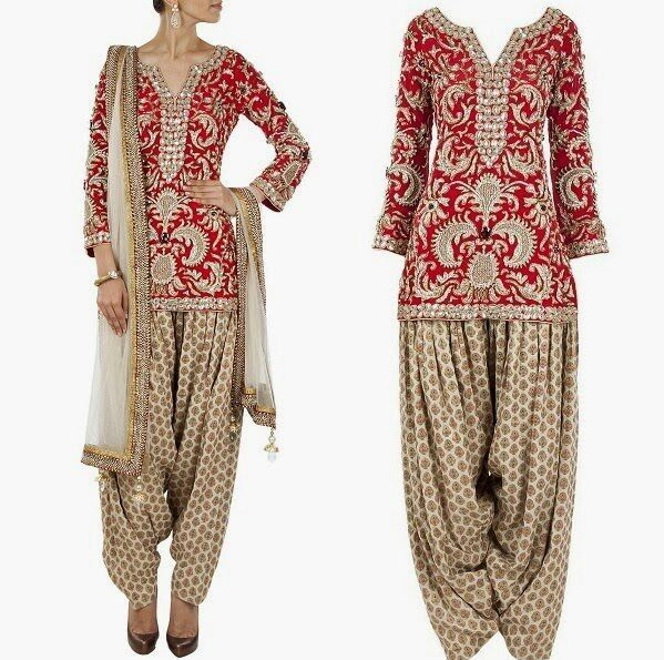 Salwar Kameez Patiala Short Length Kurta Bridal wear Suit Indian Ethnic Design #Reewaz #SalwarKameez