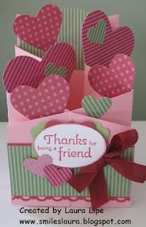 Cascading Valentine Card