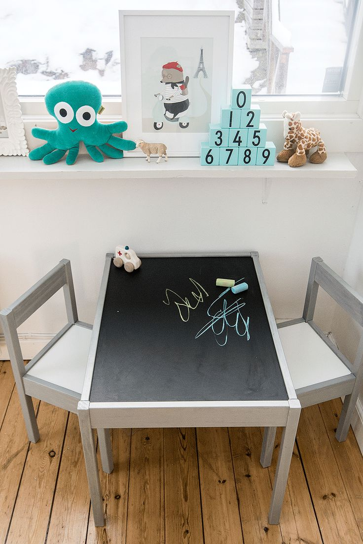 IKEAhack Lätt childrens furniture chalkboard