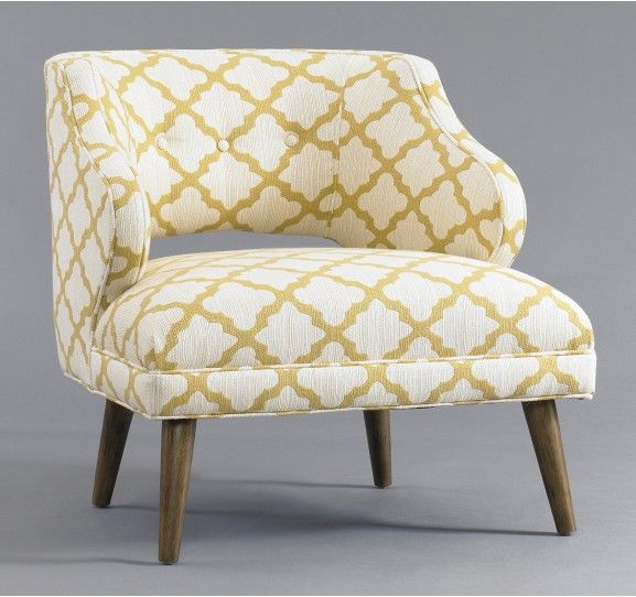 Mallory Chair by DwellStudio: Living Rooms, Chairs, Mallory Chair, Casablanca Geo, Furniture, Bedroom, Dwellstudio, Geo Citrine
