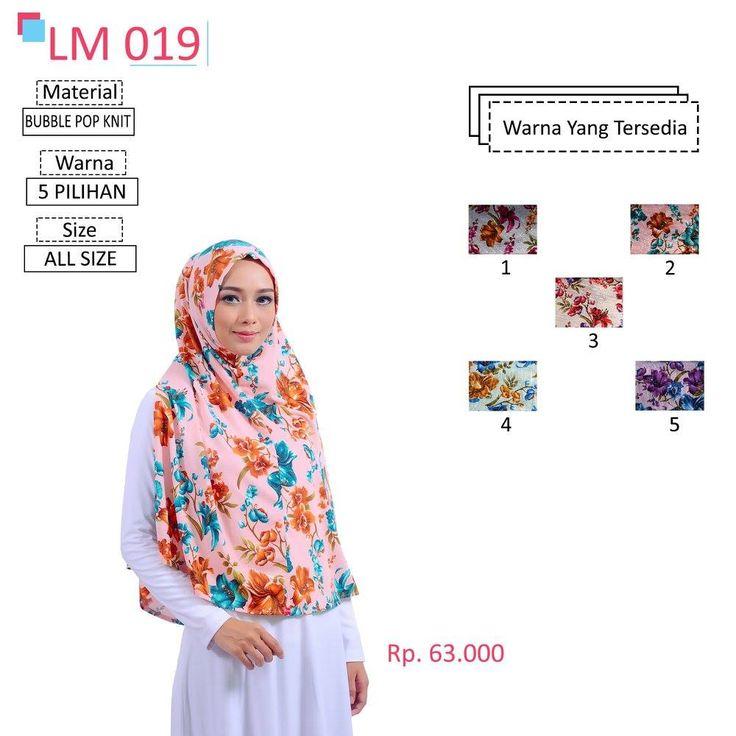 LM 019 Lamia Hijab - Kerudung Bergo Syar'i bahan kualitas premium, nyaman dipakai dan anti gerah. Material : Spandex. Size : All Size. #lamiahijab #hijabindonesia #kerudunginstan #bergo
