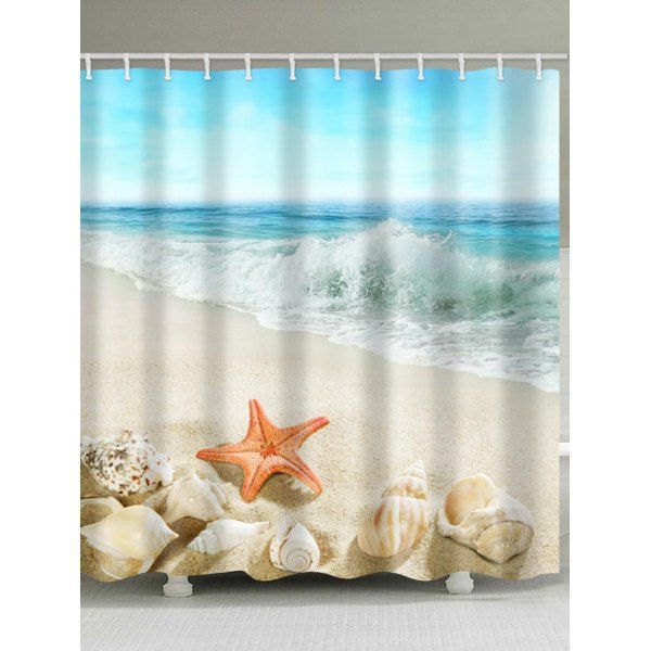 Twinkledeals With Images Beach Shower Curtains Beach Bathroom