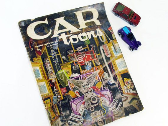 Car Toons Comic Magazine, Hot Rods, Streetsters, Muscle Cars, Sixties, Vintage Collectible