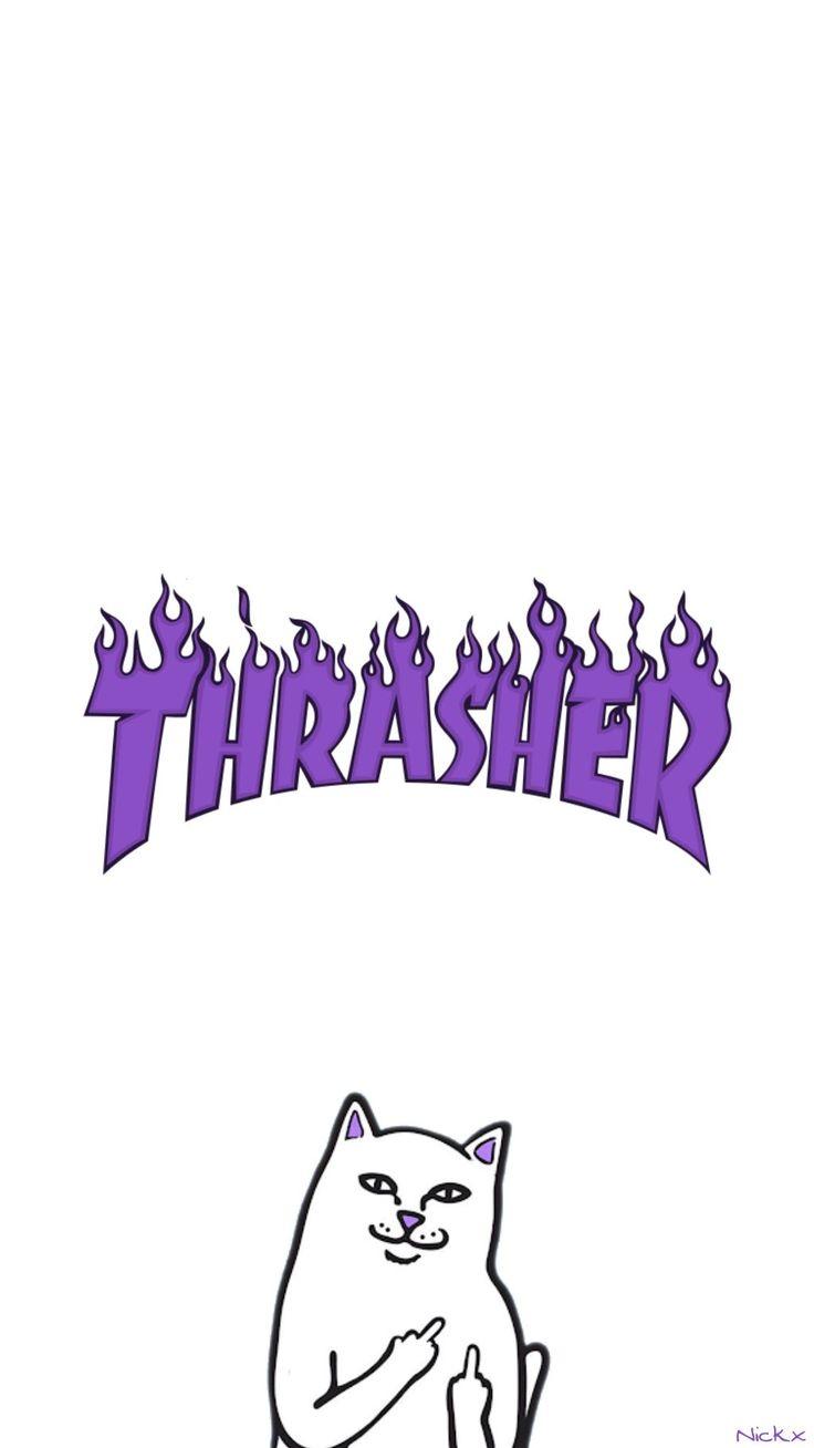 Ripndip Iphone Wallpaper Thrasher Wallpaper Cat Ripndip Thrasher Wallpaper In