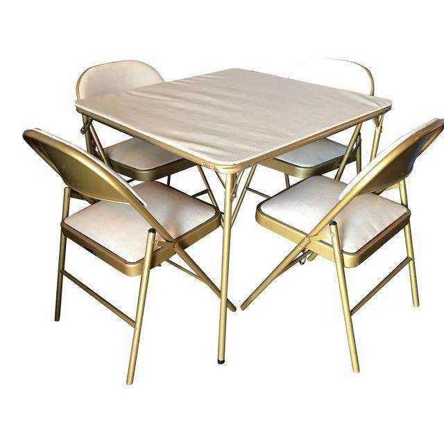 Image of Midcentury Modern Game Table & Chair Set
