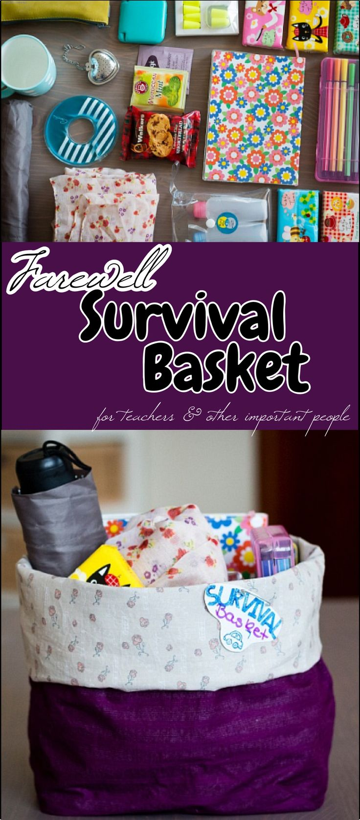 Farewell ideas for coworkers - Making A Farewell Gift Basket For My Teaching Colleague Everything To Survive Her Next Adventures