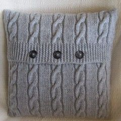 Ravelry: Classic Cable Pillow Cover pattern by Jennifer Wilby & 66 best Pillow Cover Knitting Patterns images on Pinterest ... pillowsntoast.com