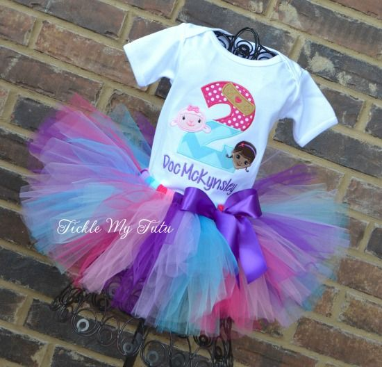 Doc McStuffins Band-Aid Number Birthday Tutu Outfit...www.ticklemytutu.com