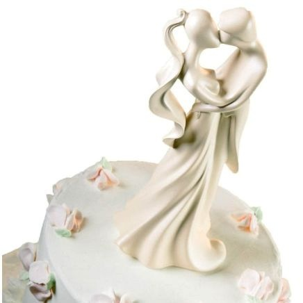 The First Kiss Wedding Cake Topper