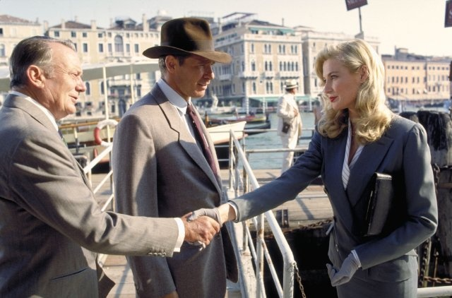 """Denholm Elliott, Alison Doody and Harrison Ford in """"Indiana Jones and the Last Crusade"""" (1989)"""